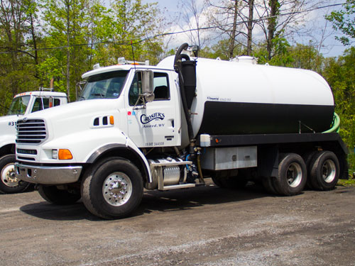 Crosiers Sanitary Services truck