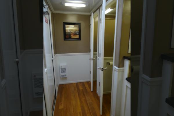 Inside Crosiers Portable Restroom