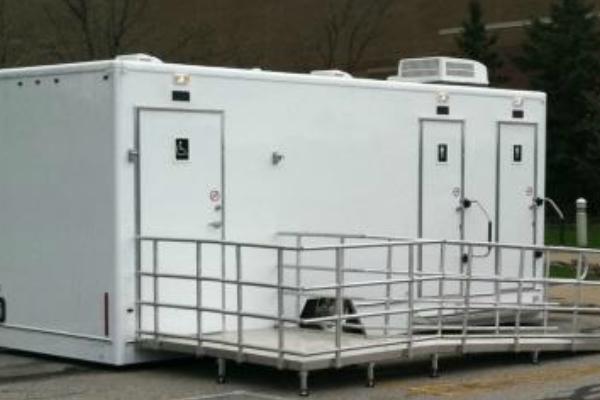 Crosiers Sanitation Portable Restrooms Outside